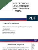 Tema 9. Agua Cruda y Potabilizacion 2018