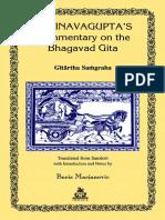 Boris Marjanovic - Abhinavagupta's Commentary on the Bhagavad Gita_Gitartha Samgraha-Indica Books (2004).pdf