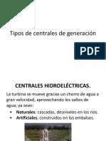 Tipos de Centrales de Generación