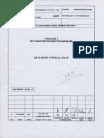 Data Sheet for Ball Valve