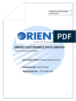 Orient Internship Report