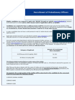 Recruitment of Probationary Officers
