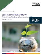 NAL Algorithmic Trading and Computational Finance Using Python Brochure 30