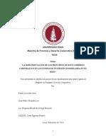 LA IMPLEMENTACIÓN DE LOS PRINCIPIOS DE BUEN GOBIERNO CORPORATIVO EN LOS FONDOS DE INVERSIÓN INMOBILIARIA EN EL PERÚ