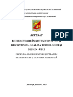 Biorectoare in Sistem Continuu Si Discontinuu - Analiza Tehnologiei Si Design-ului