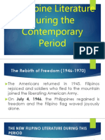 Philippine Literature During the Contemporary Period