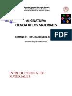 Semana 1- Introducción a Ciencia de Los Materiales (FIM)