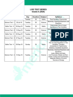 Live Test Series Class 10(2020)