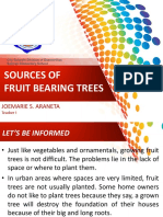Sources of Fruit Bearing Trees