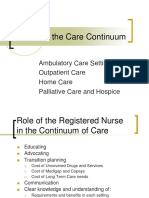 Lecture #7, Points on the Continuum- Ambulatory Care, Home Care, Hospice and Palliative Care.ppt