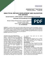 Validarea aspirinei prin cromatografie