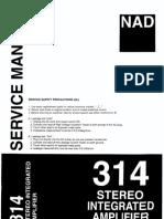 NAD 314 Service Manual