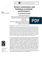 Market Orientation and Business Economic Performance