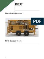 CUBEX 10446 R110 Operators Manual - Spanish
