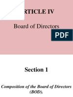 Article IV - BOD DUTIES AND RESPONSIBILITIES