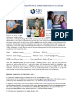 field observation activities packet
