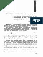 Medição Da Permeabilidade Das Rochas. Bol. Técnico Da Petrobras