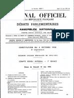 Compte-rendu au JO des débats de la première séance des questions au gouvernement