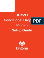 JOYZO Conditional Dropdown Plug in Setup Guide