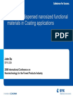 The Use of Nanosized Dispersed Nanoparticles in Coating Applications