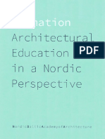 Architectural Education in a Nordic Perspective