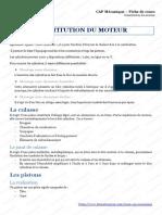 CAP Mecanique Constitution Du Moteur