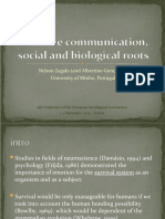Affective communication, social and biological roots