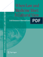 When Law and Medicine Meet - A Cultural View