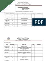 Cronograma El 24 Al 27 e Septiembre