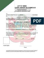 Ley n 28882 Declaracion Jurada de Domici
