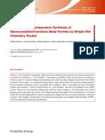 2014 NanocrystallineTransition Metal Ferrites