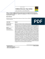 Efficacy of Early Childhood Professionals Teacher Post Implementation Program Activity Against Childhood Cognitive Development 4-6 Years (a Case Study in Pos Paud Mawar I Sragen)