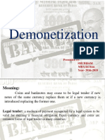 ppt on Demonentization