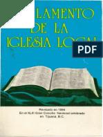 Reglamento Local de La Iglesia