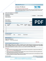 Request Form for Purchase of Cultures