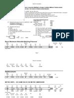 Reinforcement pad calculation