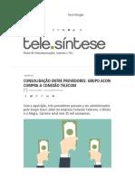 Noticia Acon - Telesintese
