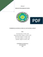PKM M Pengabdian Pemberdayaan Remaja Sebagai Agen Klinik Sampah