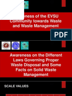 Awareness of the EVSU Community Towards Waste And
