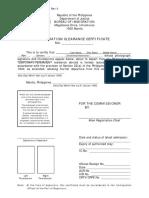 Philippines ECC - EMIGRATION CLEARANCE CERTIFICATE