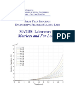Matrix lab manual