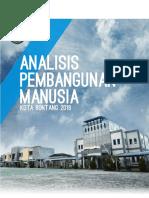 Analisis Pembangunan Manusia Kota Bontang 2018