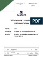A545 000-16-51 VL 02 Vendor List _instrumentation_DORC_Packages
