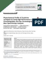 Phytochemical Profile of Erythrina Variegata by Using High Performance Liquid Chromatography and Gas Chromatography Mass Spectroscopy Analyses