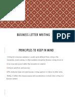 Business letter info
