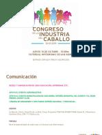 Congreso de La Industria Del Caballo - Gacetilla