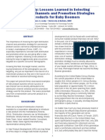 Case Study Lessons Learned in Selecting Distribution Channels and Promotion Strategies for Products for Baby Boomers.pdf