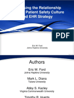 Assessing the Relationship Between Patient Safety Culture and EHR Strategy