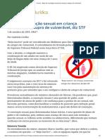 ConJur - Beijo de Conotação Sexual Em Criança é Estupro de Vulnerável