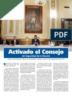 Concejo de defensa de la nación Activado
